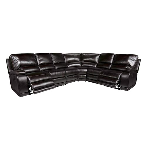 Morris Home Furnishings Seth 4-Piece Reclining Sectional