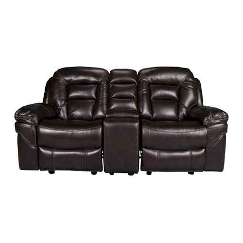 Morris Home Furnishings Derek 3-Piece Leath-aire Reclining Loveseat