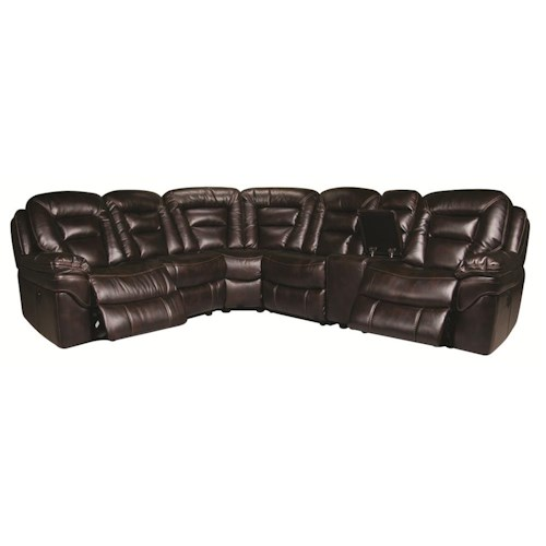 Morris Home Furnishings Derek 6-Piece Leath-aire Sectional