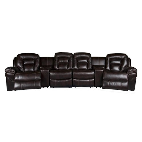 Morris Home Furnishings Derek Leath-aire Power Reclining Sectional