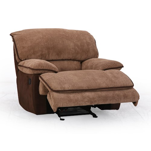 Cheers Sofa 8706M Casual Glider Recliner With Cushioned Chaise