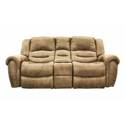 Cheers Sofa 8295 Microfiber Reclining Loveseat with Console