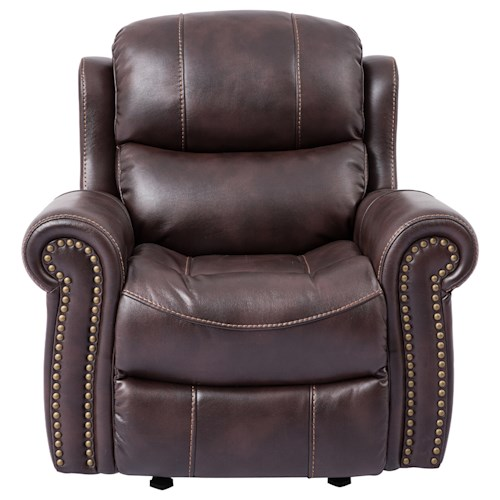 Cheers Sofa 9768 Glider Recliner with Rolled Arms