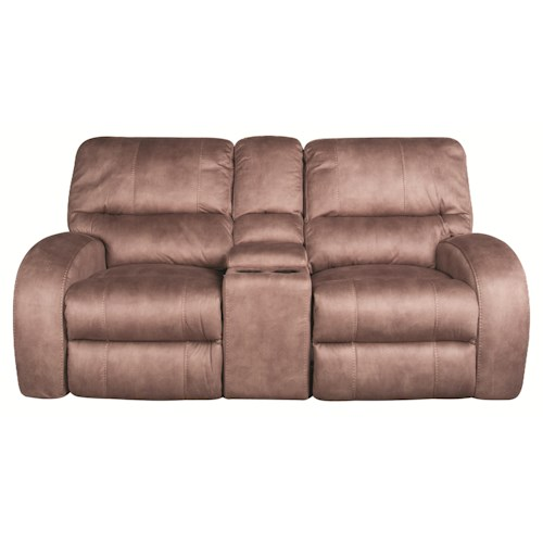 Morris Home Furnishings Caiden 3 Piece Glider Recliner Loveseat with Console