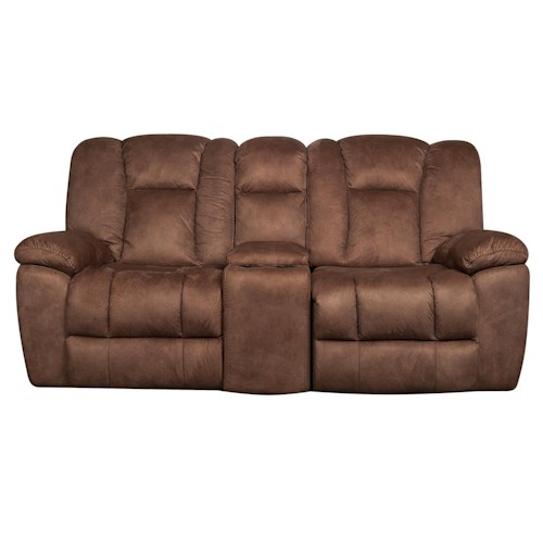 Morris Home Furnishings Caleb - Gliding Reclining Loveseat with USB