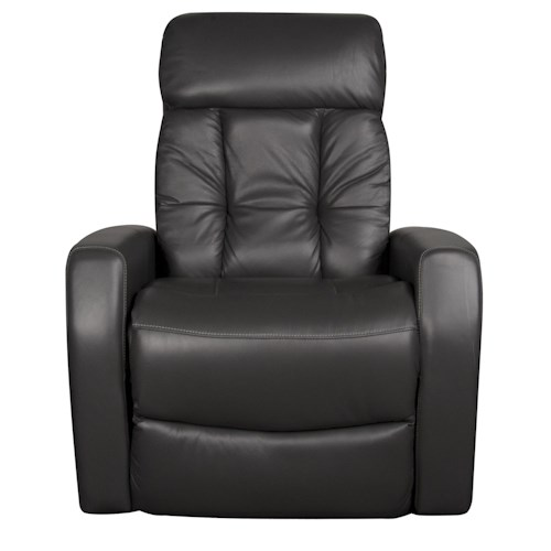 Morris Home Furnishings Dalton Power Leather-Match* Swivel Recliner