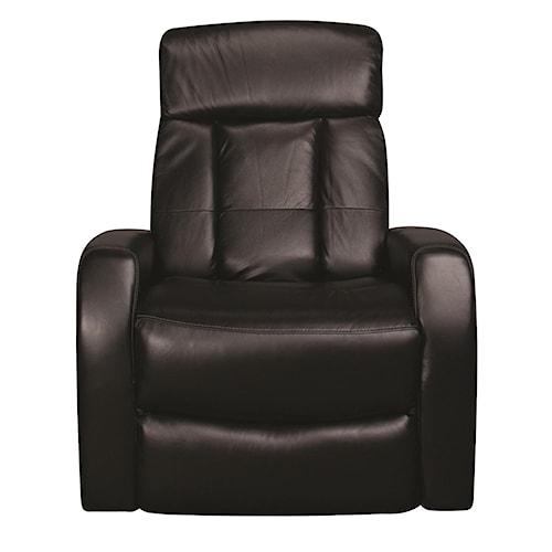 Morris Home Furnishings Dalton Power Leather-Match* Swivel Recliner