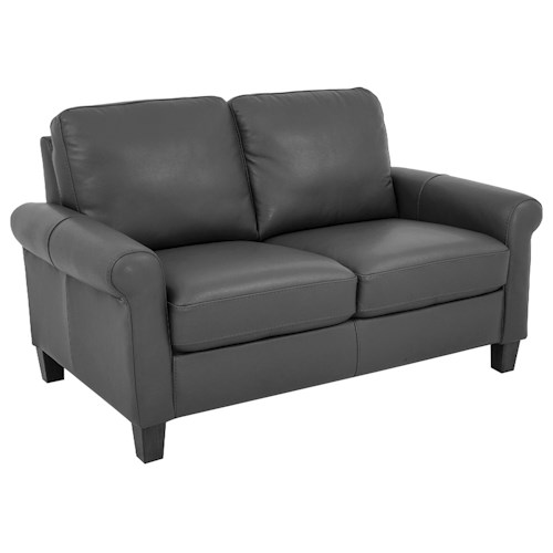 Morris Home Furnishings Dorothy Leather-Match* Loveseat