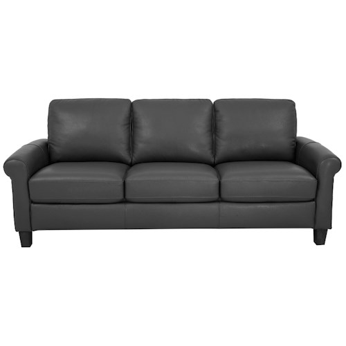 Morris Home Furnishings Dorothy Leather-Match* Sofa