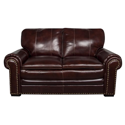 Morris Home Furnishings Elwood Leather-Match* loveseat
