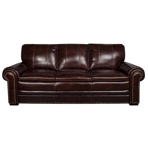 Morris Home Furnishings Elwood Leather-Match* Sofa