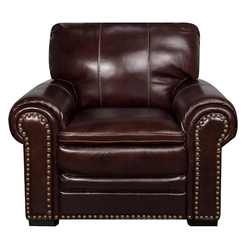 Morris Home Furnishings Elwood Leather-Match* Leather Chair