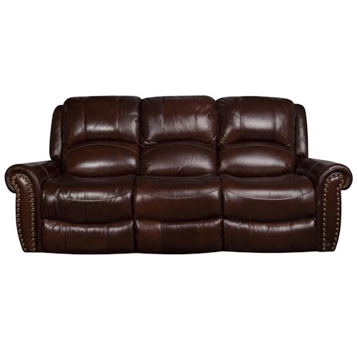 Morris Home Furnishings Fleming Dual Power Leather-Match* Reclining Sofa
