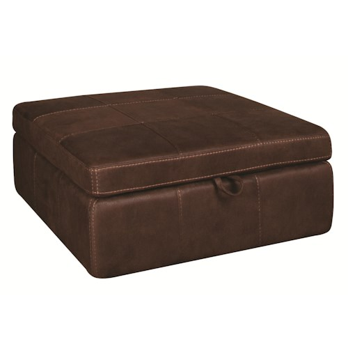 Morris Home Furnishings Gary Ottoman with Casters
