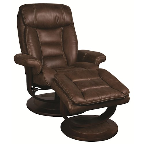 Morris Home Furnishings Manuel Manuel Swivel Recliner with Ottoman