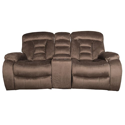 Morris Home Furnishings Merrick 3-Piece Reclining Loveseat with USB