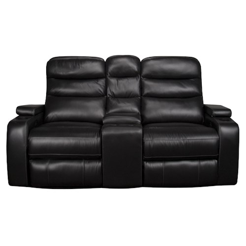 Morris Home Furnishings Robert 3-Piece Dual Power Leather-Match* Reclining Loveseat