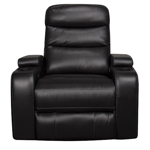 Morris Home Furnishings Robert Power Leather-Match* Recliner