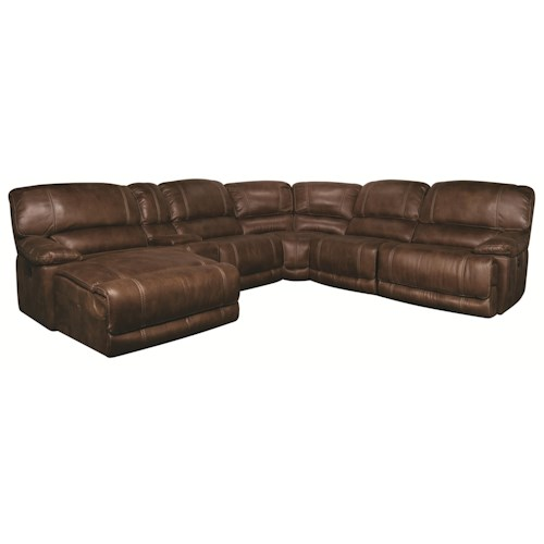 Morris Home Furnishings Sandra 6-Piece Power Reclining Sectional