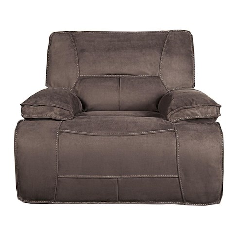 Morris Home Furnishings Theodore Pella suede Power Recliner