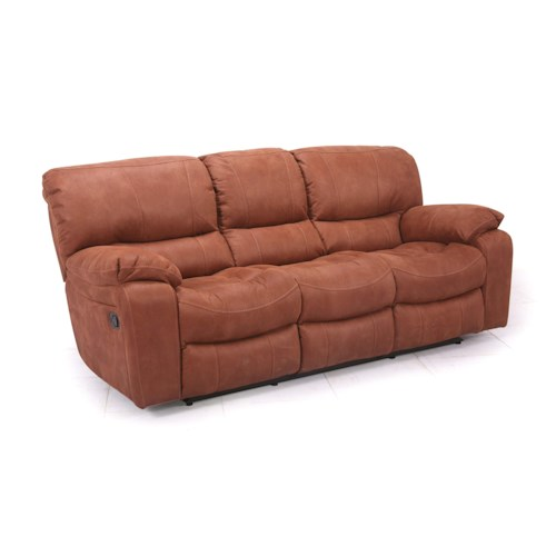 Cheers Sofa UX8625M Reclining Sofa With Plush Pillow Arms