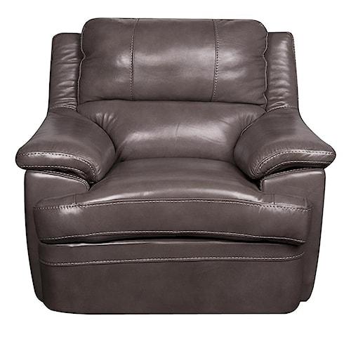 Morris Home Furnishings Zane Leather-Match* Chair