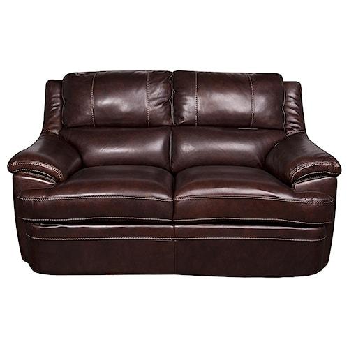 Morris Home Furnishings Zane - Leather-Match* Loveseat