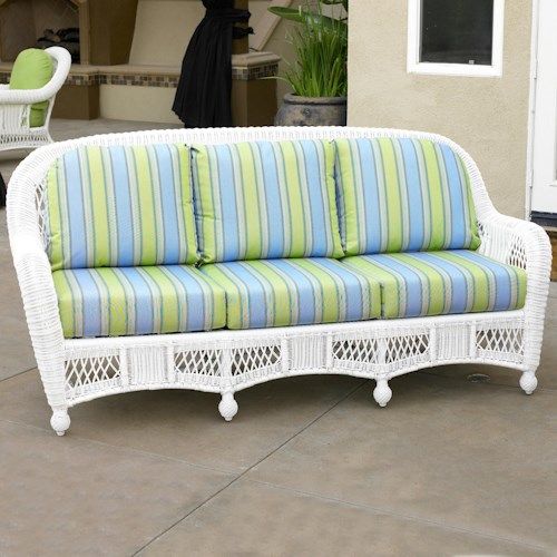 NorthCape International St Lucia Woven Premium Deep Seat Upholstered Outdoor 3-Seat Sofa