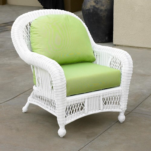 NorthCape International St Lucia Woven Premium Deep Seat Upholstered Outdoor Chair