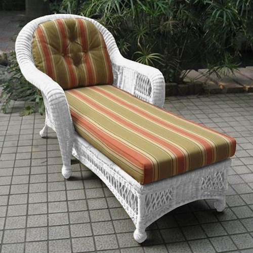 NorthCape International St Lucia Woven Rounded Arm Outdoor Chaise Lounge