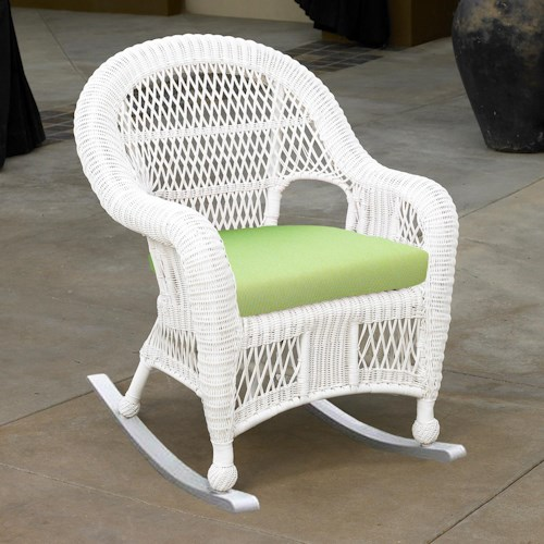 NorthCape International St Lucia Woven Premium Deep Seat Upholstered Outdoor Chair Rocker