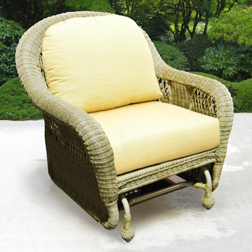NorthCape International St Lucia Woven Premium Deep Seat Upholstered Outdoor Single Glider
