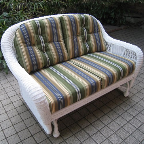 NorthCape International St Lucia Woven Premium Deep Seat Upholstered Outdoor Double Glider