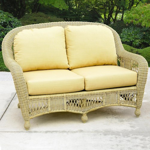 NorthCape International St Lucia Woven Premium Deep Seat Upholstered Outdoor Loveseat