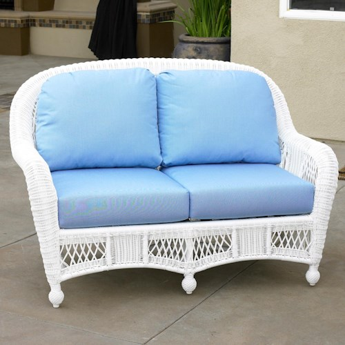NorthCape International St Lucia Woven Premium Deep Seat Upholstered Outdoor Loveseat