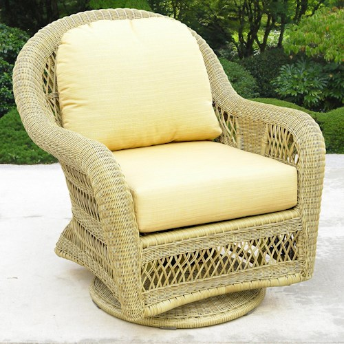 NorthCape International St Lucia Woven Premium Deep Seat Upholstered Outdoor Swivel Glider