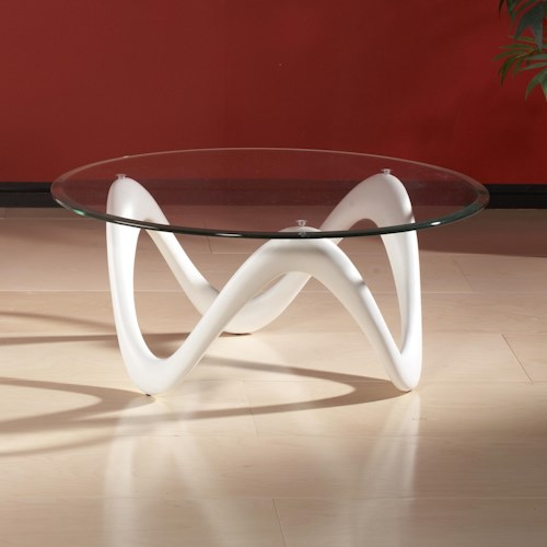 Chintaly Imports 1147 Round Cocktail Table