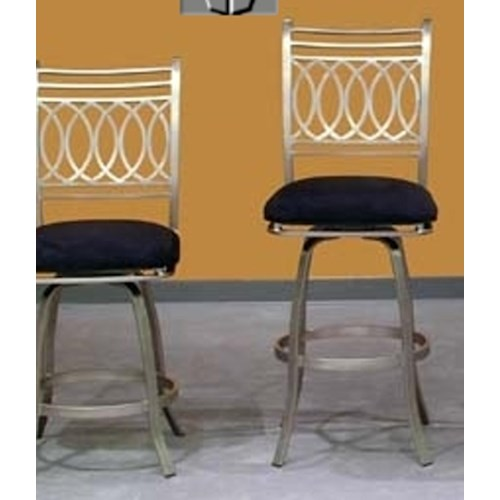 Chintaly Imports Julia  Swivel Bar Stool
