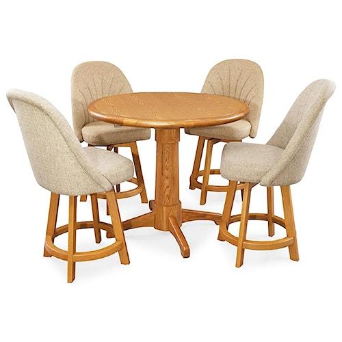Chromcraft Custom Dining 5 Piece Pub Table Set