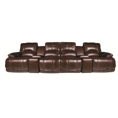 Cindy Crawford Home Sawyer 6-Piece Leather Match* Sectional