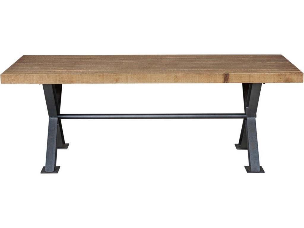 Iron Wood Dining Table Classic Home Portofino Wood Dining Table With Trestle Iron Base