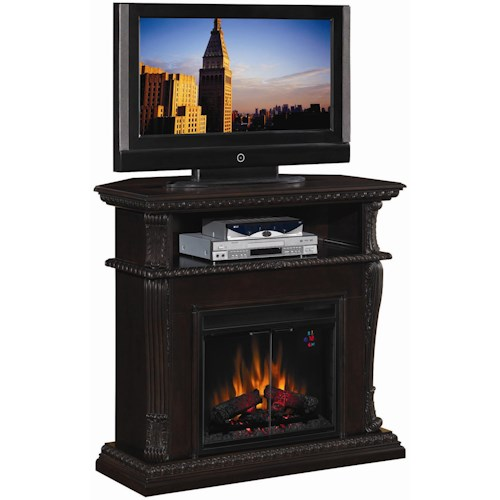 Morris Home Furnishings Corinth  Remote Operated Wall or Corner Electric Fireplace