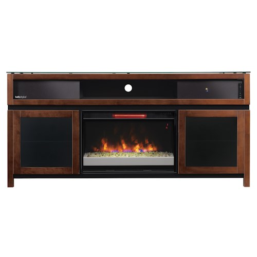 Morris Home Furnishings Gasquet Console with Fireplace