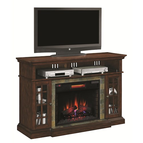 Morris Home Furnishings Lakeland Media Mantel Electric Fireplace