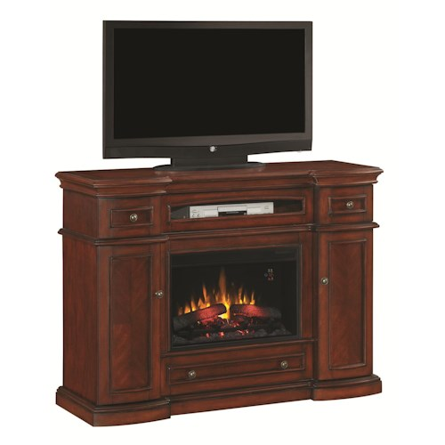 Morris Home Furnishings Montgomery Fireplace Media Mantel with 26