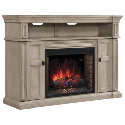 ClassicFlame Wyatt Fireplace TV Console Mantel with Storage.