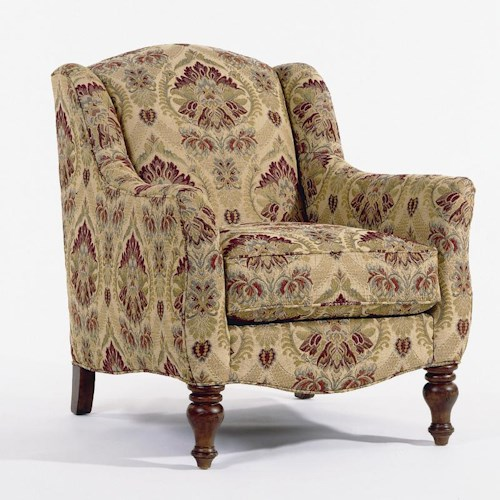 Clayton Marcus 3471 Janette Traditional Upholstered Chair with Flair Arms