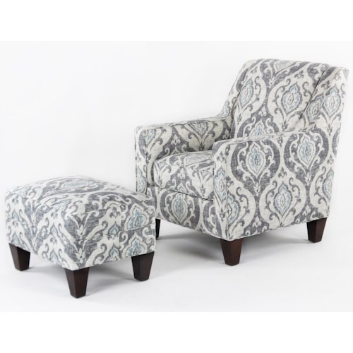 CMI Classic Chair Accents Casual Chair and Ottoman Set