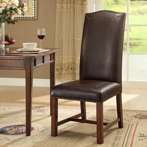 Morris Home Furnishings New Guinea New Haven Bonded Side Chair *Floor Models Only Left