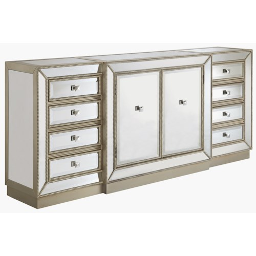 Coast to Coast Imports Coast to Coast Accents Eight Drawer Two Door Credenza